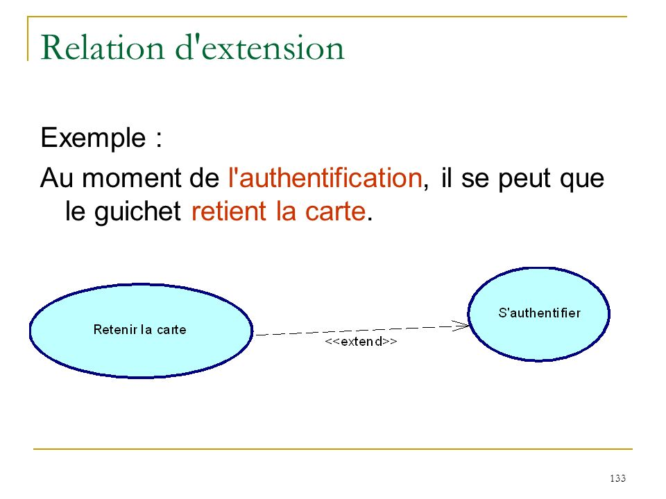 Relation d extension Exemple :