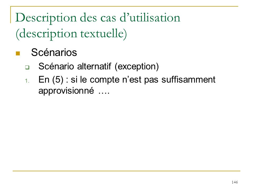 Description des cas d'utilisation (description textuelle)