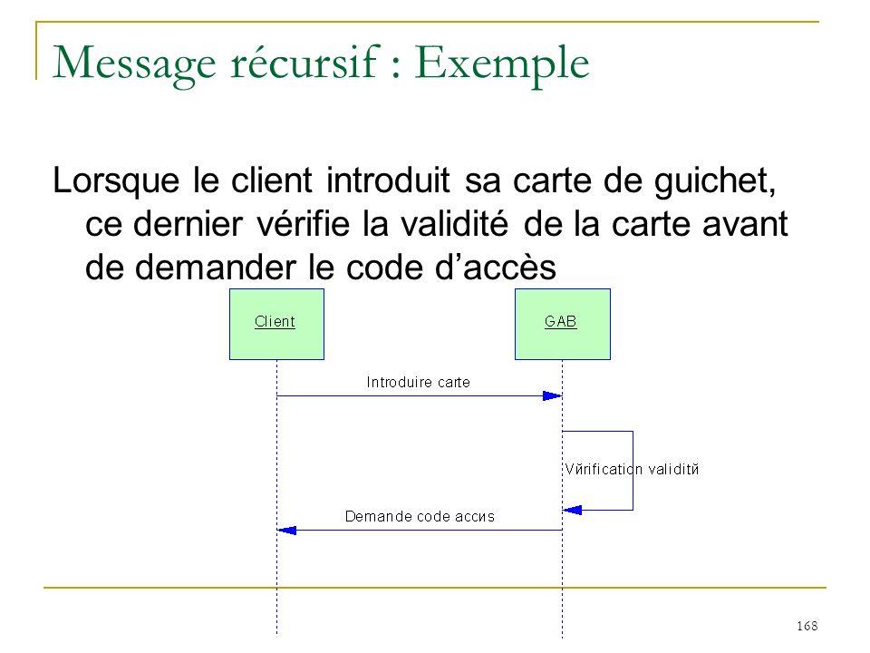 Message récursif : Exemple
