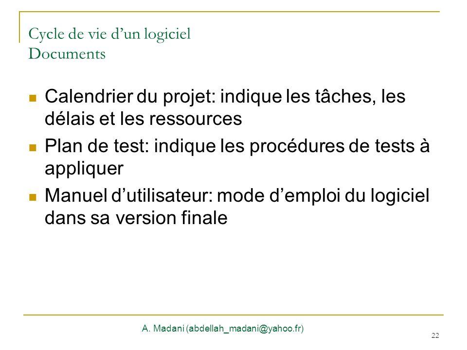 Cycle de vie d'un logiciel Documents