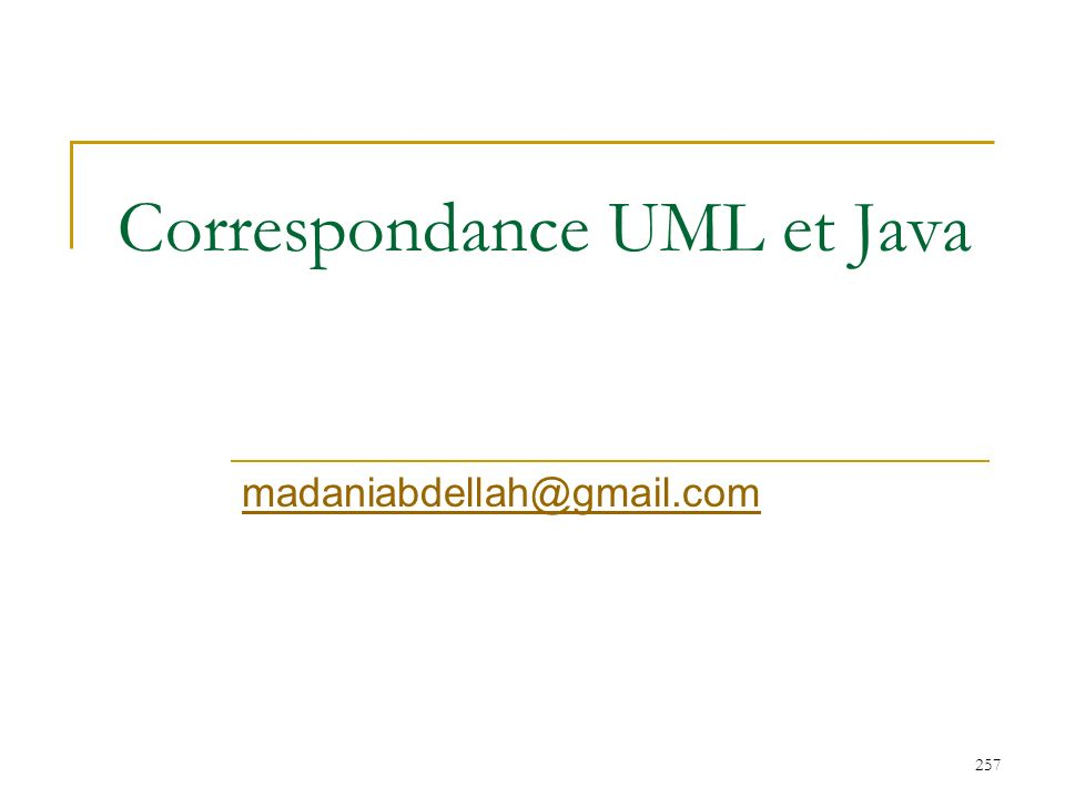 Correspondance UML et Java