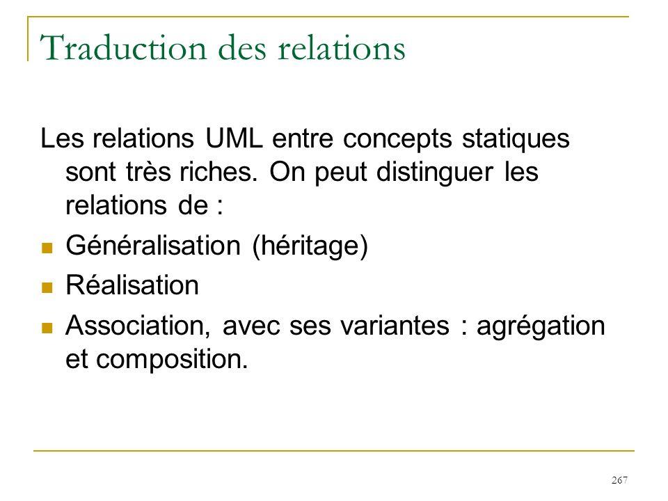 Traduction des relations