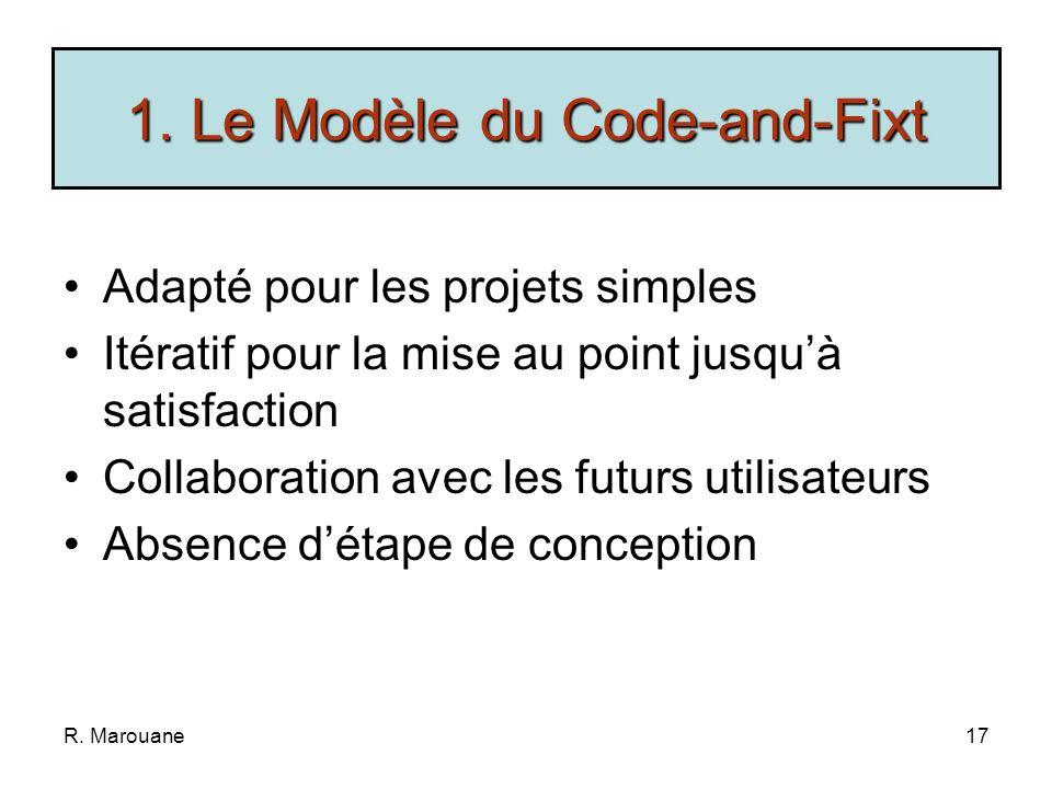 1. Le Modèle du Code-and-Fixt