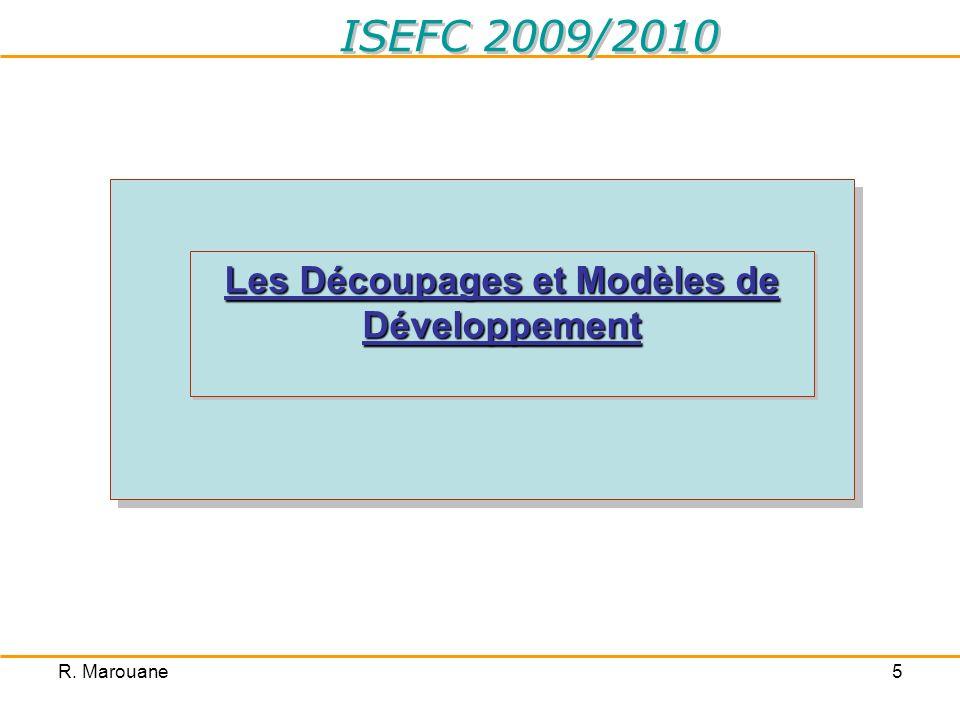 Les Découpages et Modèles de Développement