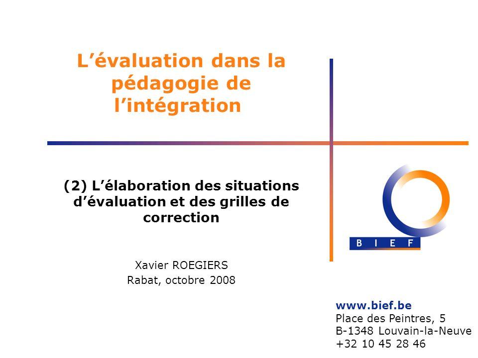L'évaluation dans la pédagogie de l'intégration