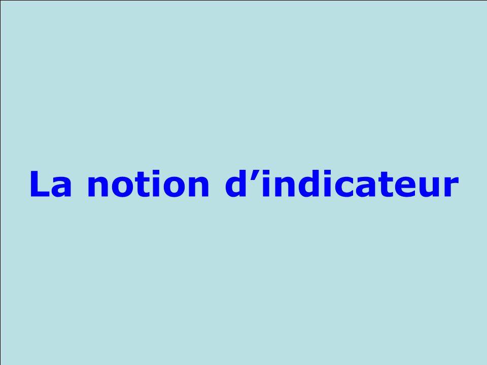 La notion d'indicateur