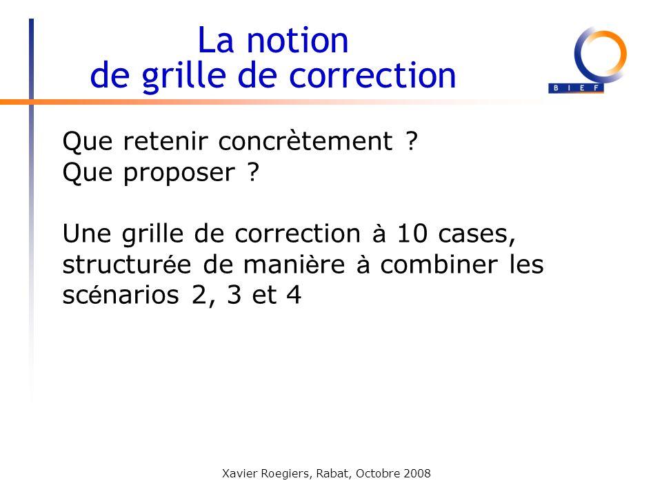La notion de grille de correction