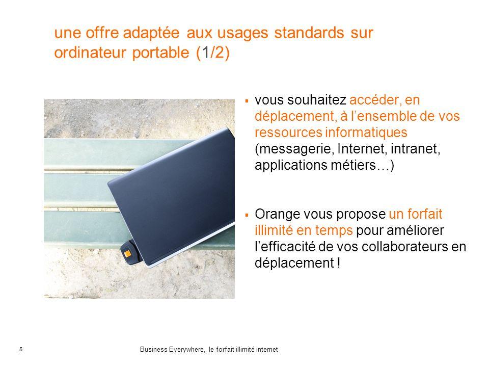 une offre adaptée aux usages standards sur ordinateur portable (1/2)