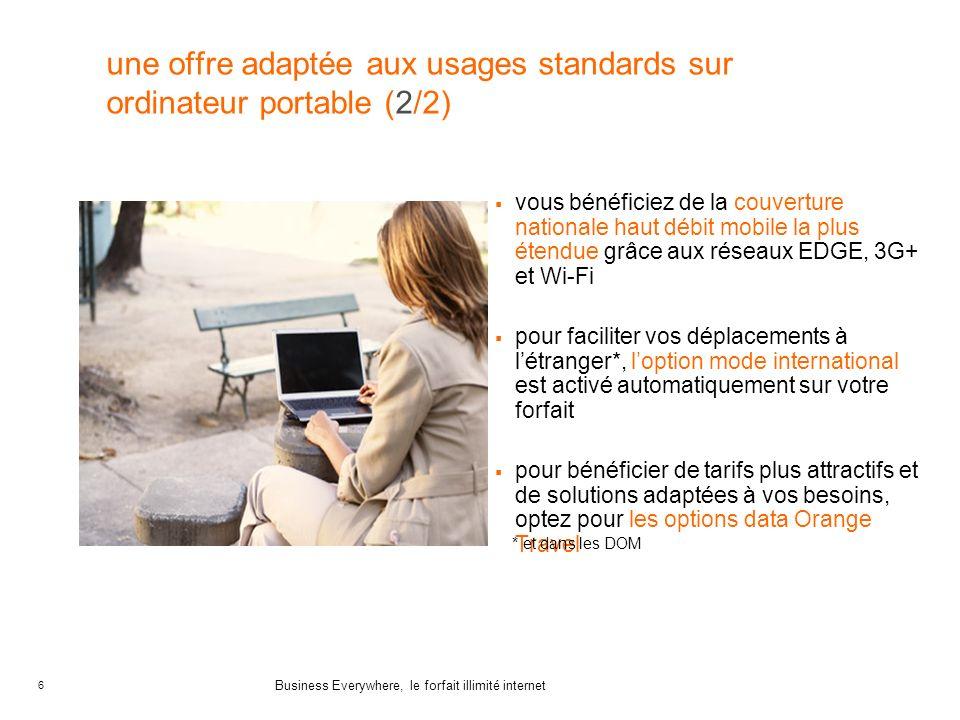 une offre adaptée aux usages standards sur ordinateur portable (2/2)