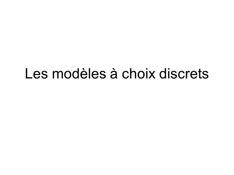 Les modèles à choix discrets