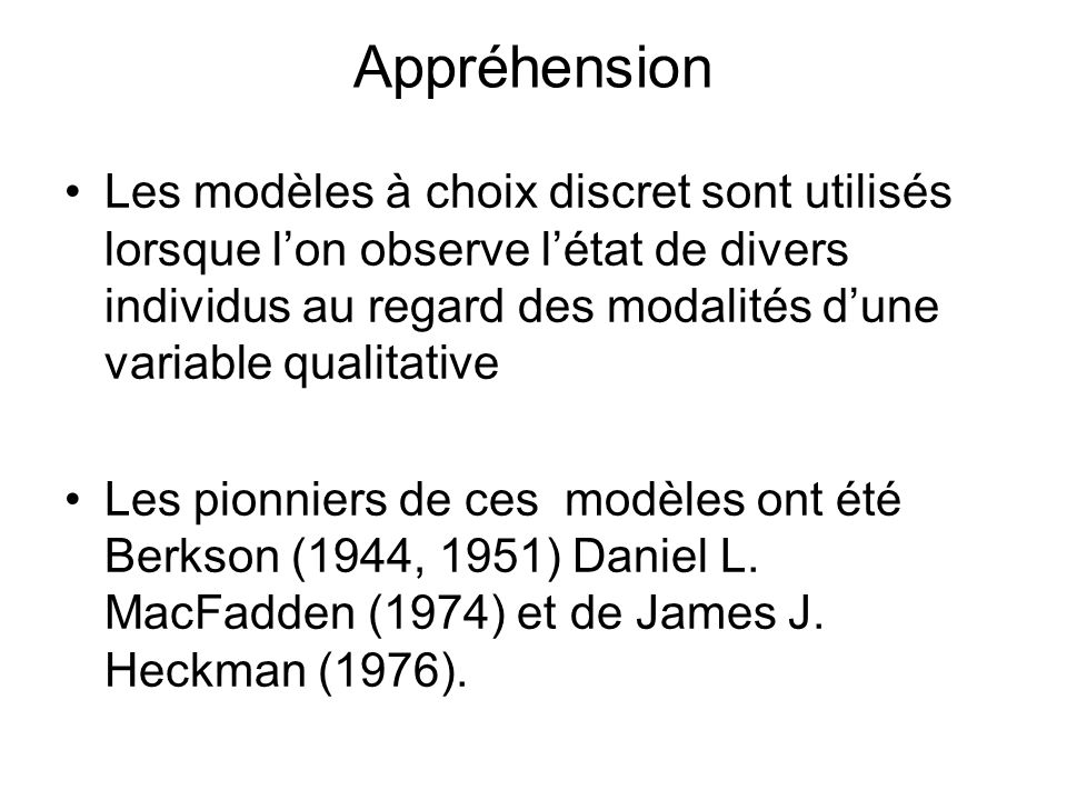 Appréhension