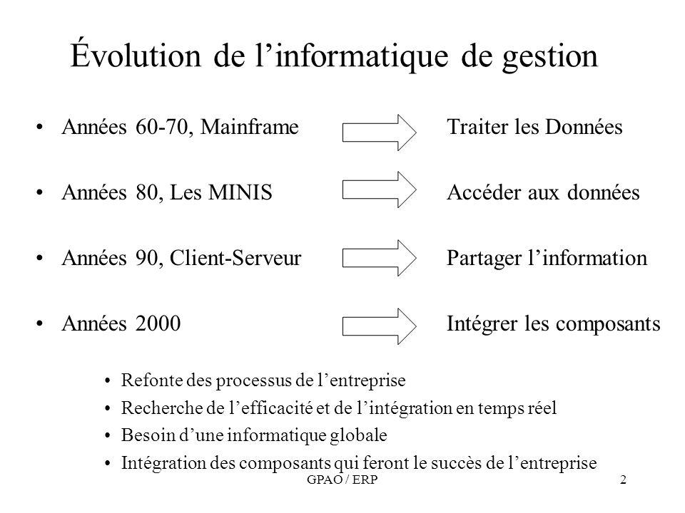 Évolution de l'informatique de gestion