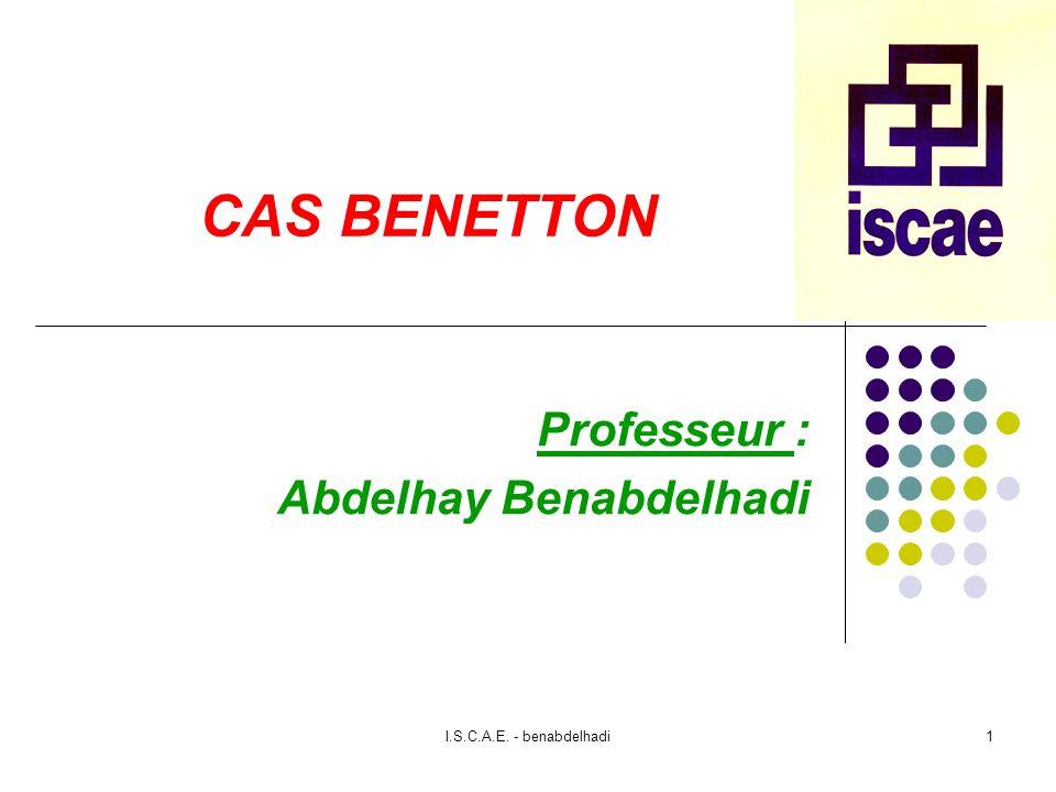 Professeur : Abdelhay Benabdelhadi
