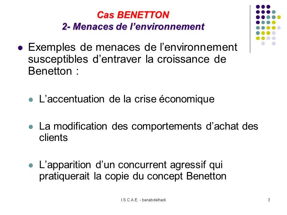 Cas BENETTON 2- Menaces de l'environnement