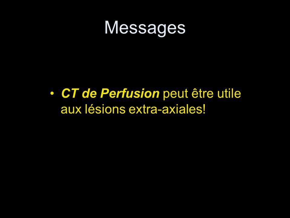 Messages CT de Perfusion peut être utile aux lésions extra-axiales!