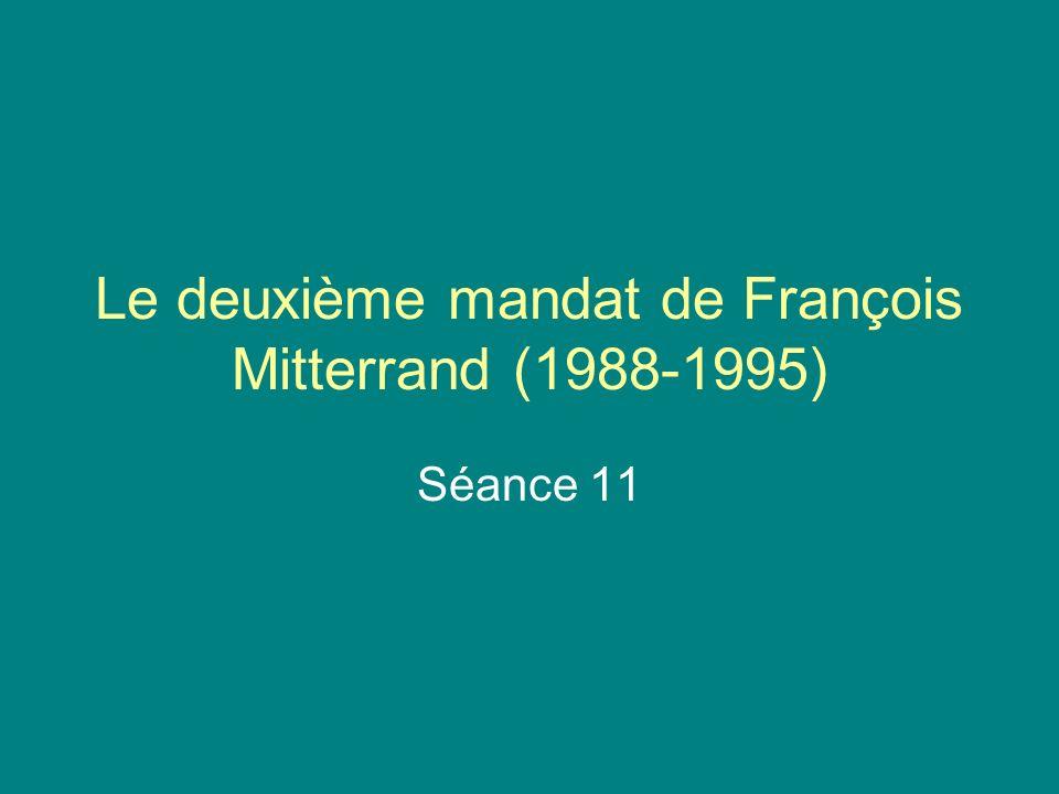 Le deuxième mandat de François Mitterrand (1988-1995)