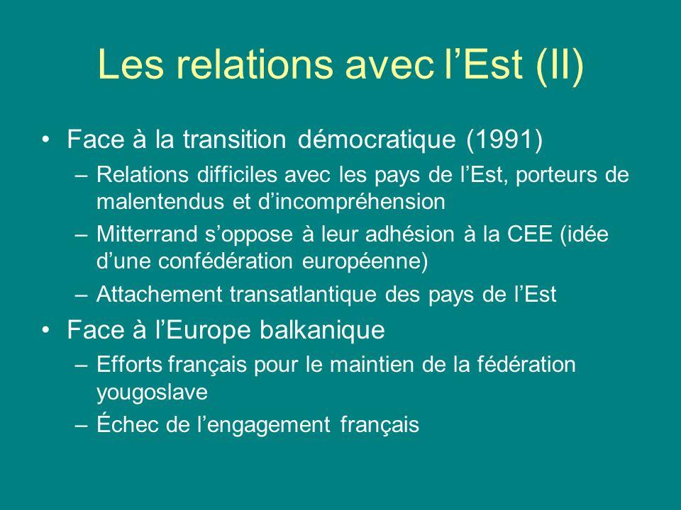 Les relations avec l'Est (II)
