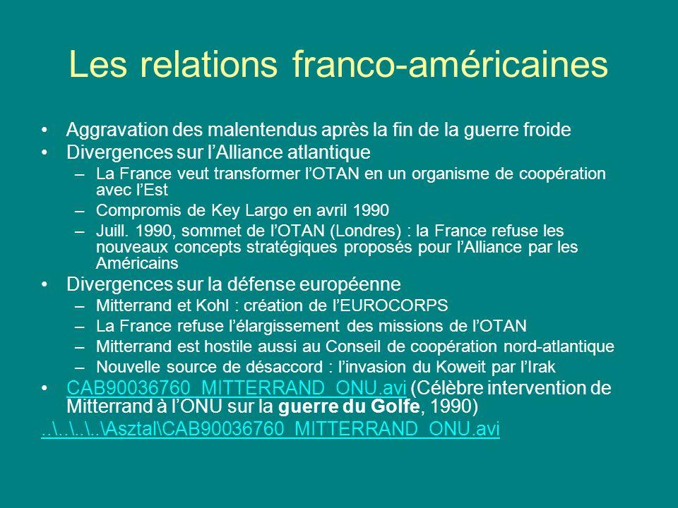 Les relations franco-américaines