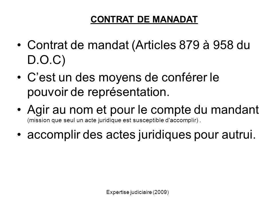 Expertise judiciaire (2009)