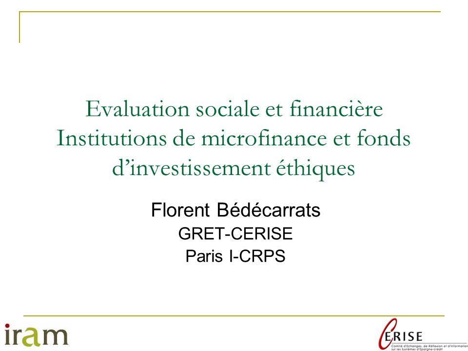 Florent Bédécarrats GRET-CERISE Paris I-CRPS