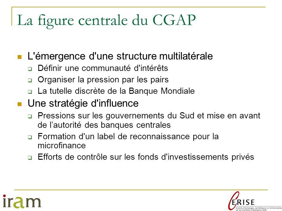 La figure centrale du CGAP