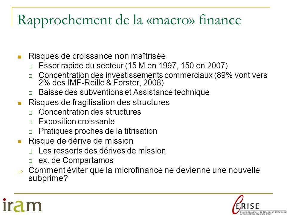 Rapprochement de la «macro» finance