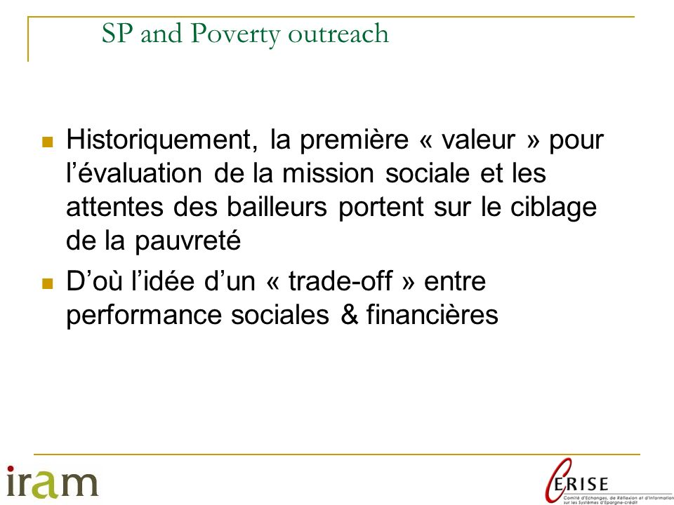 SP and Poverty outreach