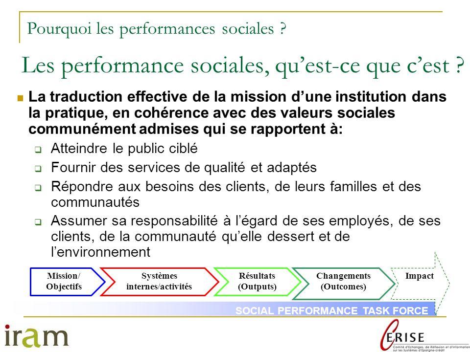 Les performance sociales, qu'est-ce que c'est