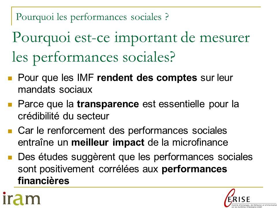 Pourquoi est-ce important de mesurer les performances sociales