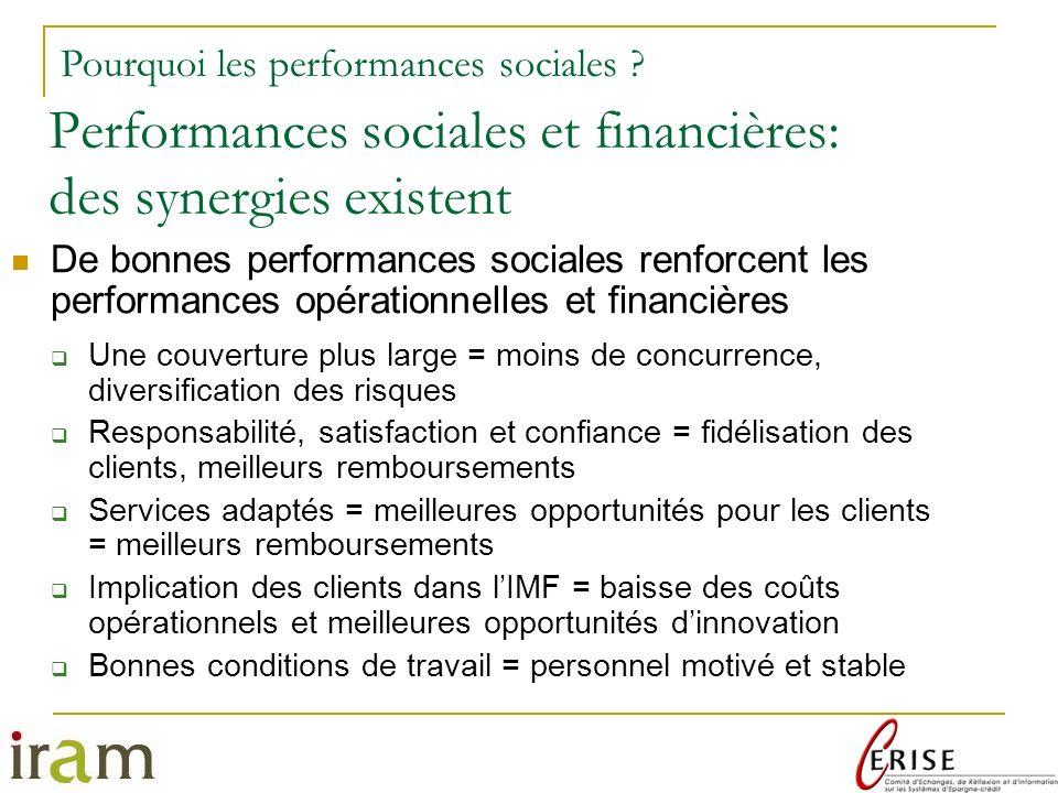 Performances sociales et financières: des synergies existent