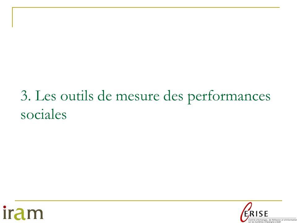3. Les outils de mesure des performances sociales