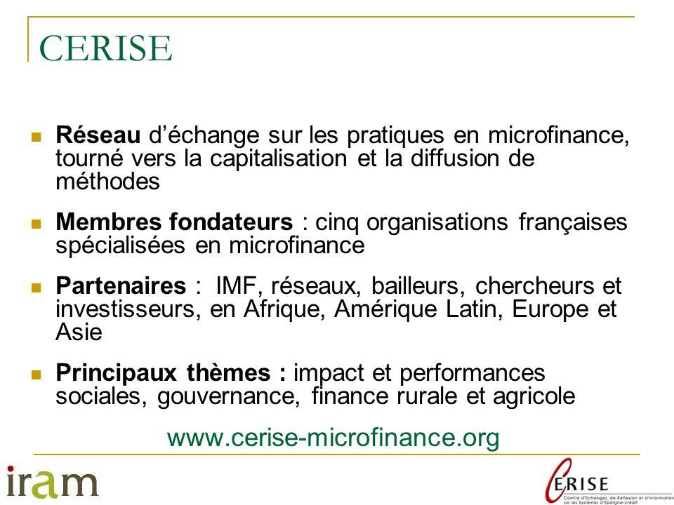 CERISE www.cerise-microfinance.org