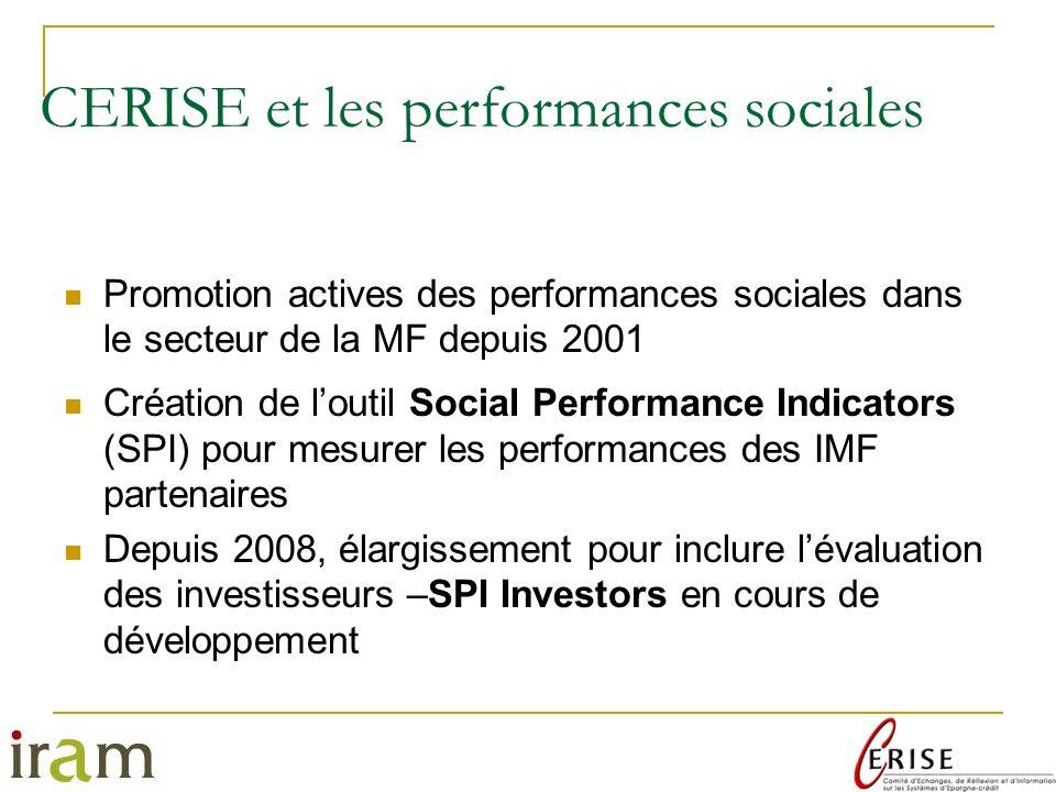 CERISE et les performances sociales
