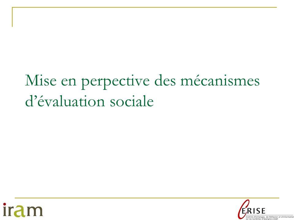 Mise en perpective des mécanismes d'évaluation sociale