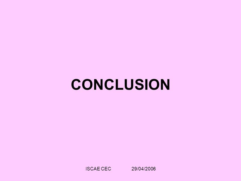 CONCLUSION ISCAE CEC 29/04/2006