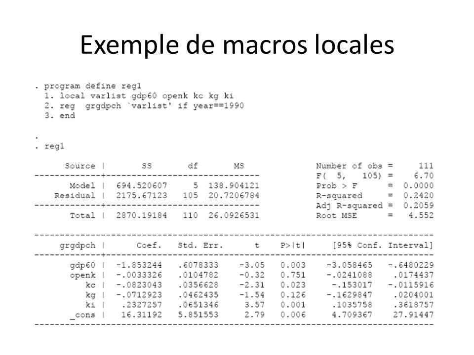 Exemple de macros locales