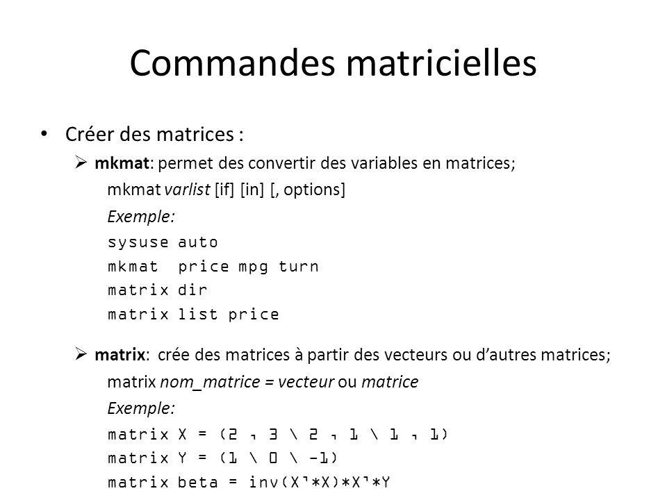 Commandes matricielles