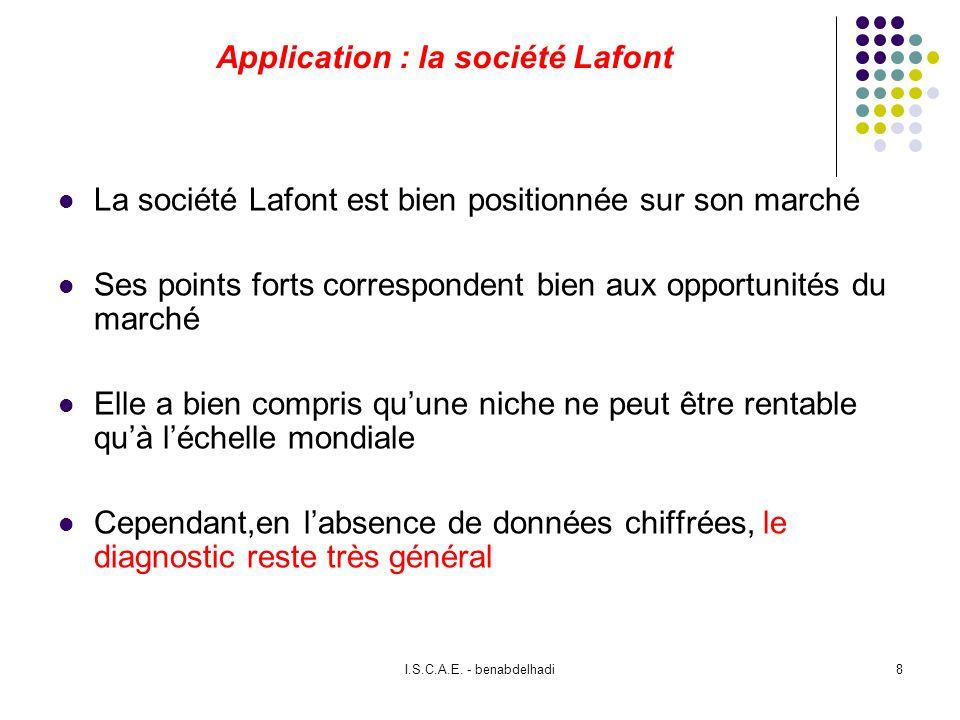 Application : la société Lafont