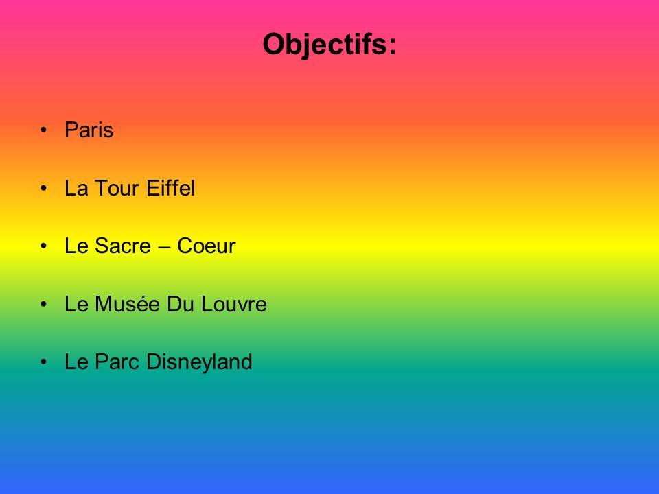Objectifs: Paris La Tour Eiffel Le Sacre – Coeur Le Musée Du Louvre