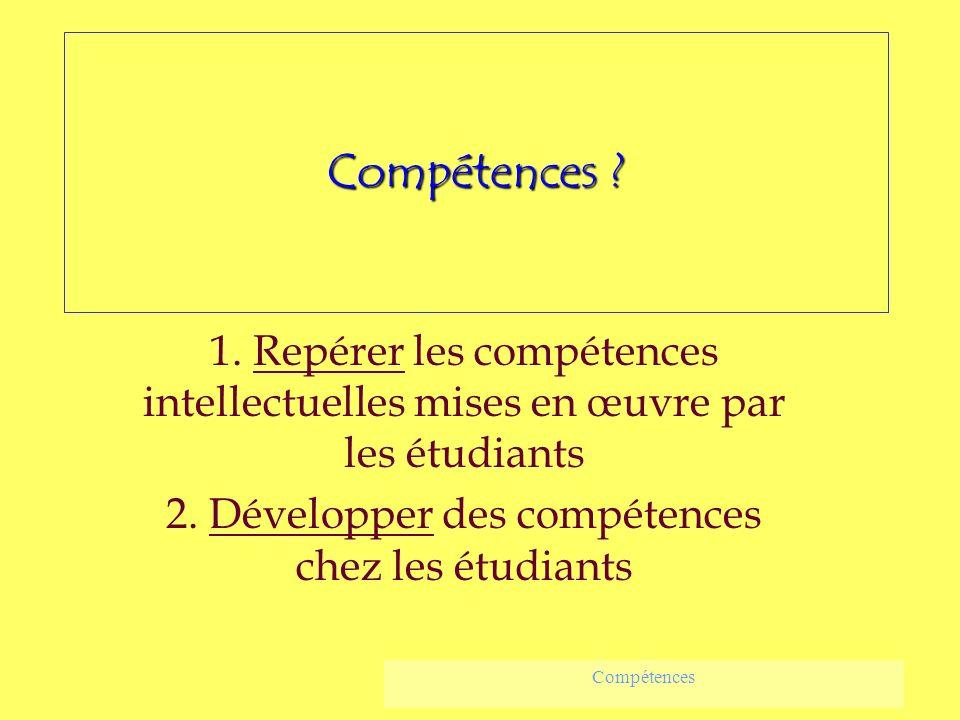 2. Développer des compétences chez les étudiants