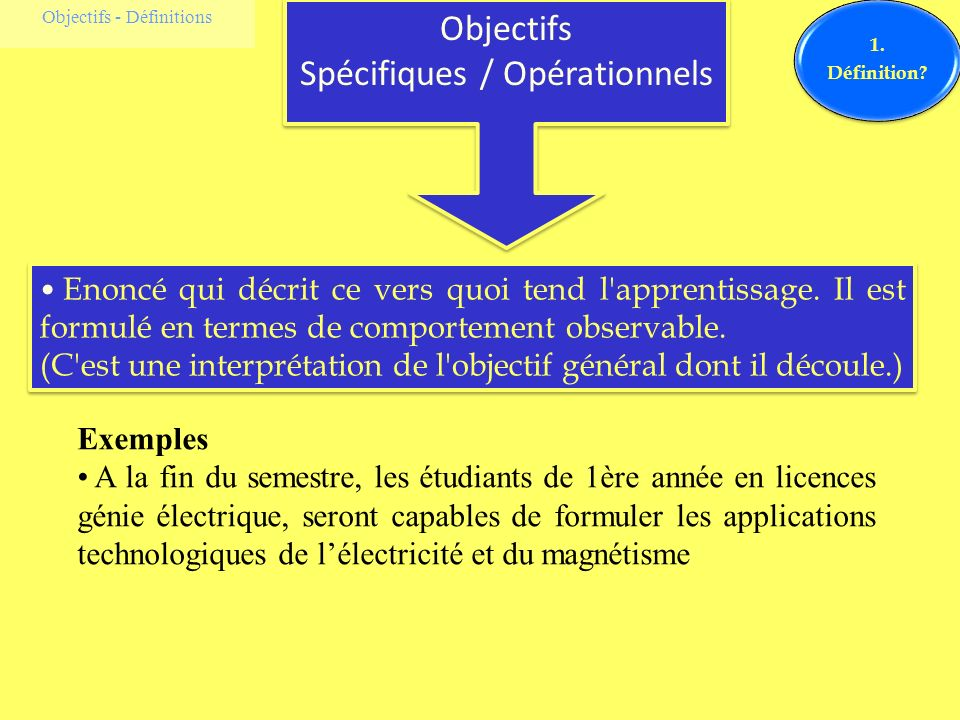 Spécifiques / Opérationnels