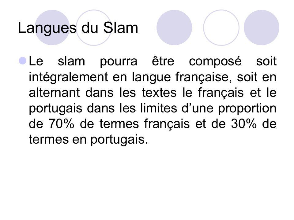Langues du Slam