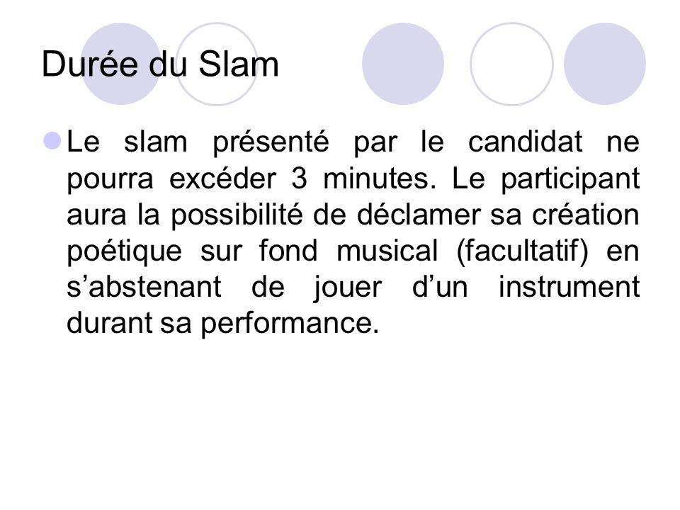 Durée du Slam
