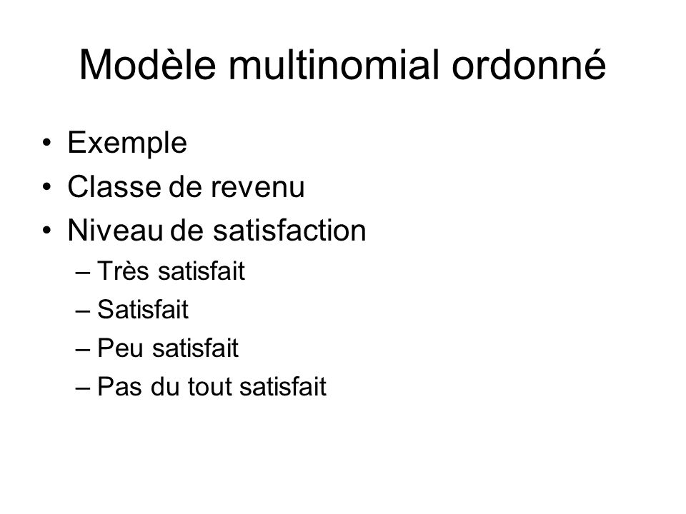 Modèle multinomial ordonné