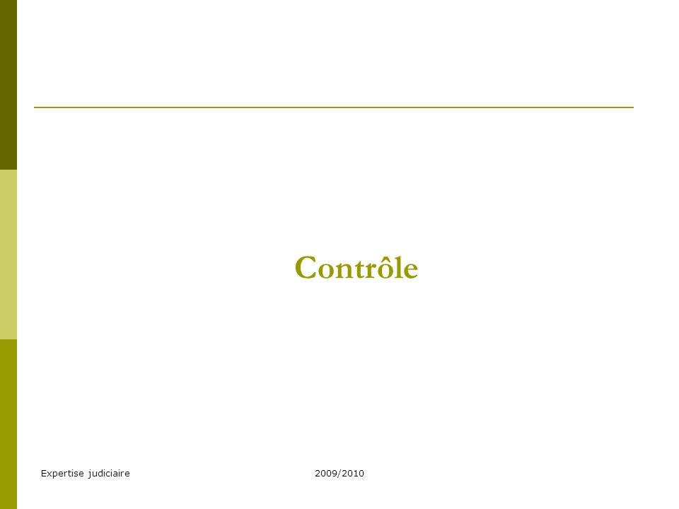Contrôle Expertise judiciaire 2009/2010
