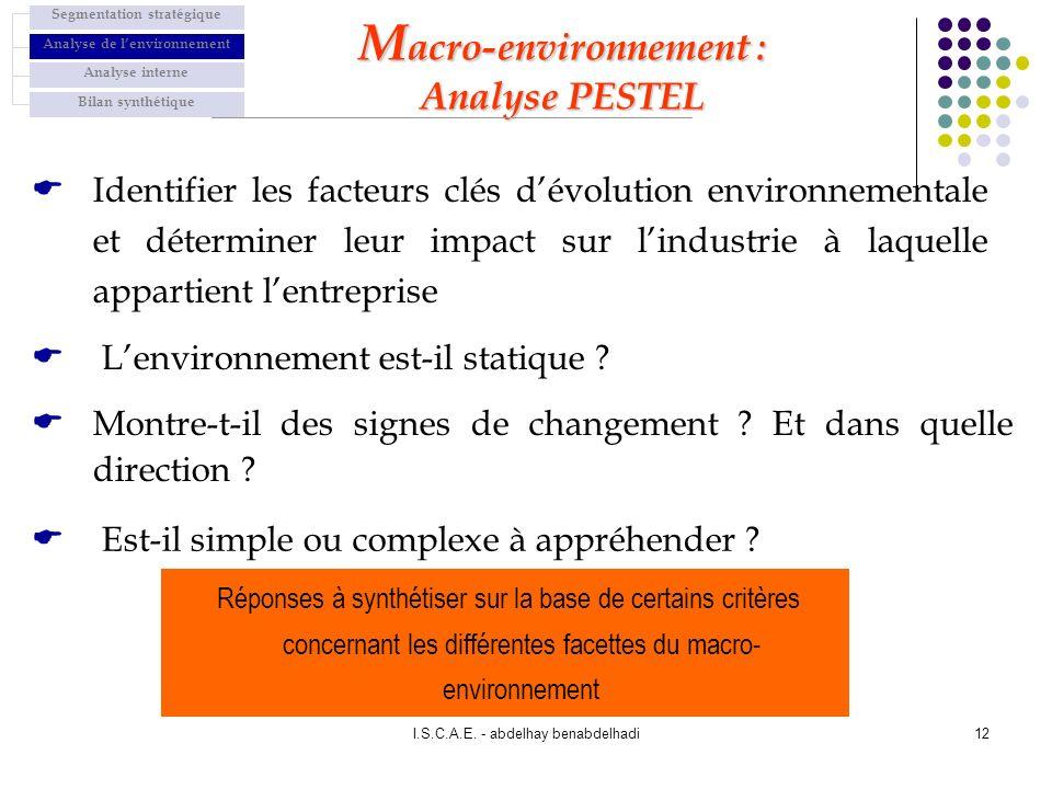 Macro-environnement : Analyse PESTEL