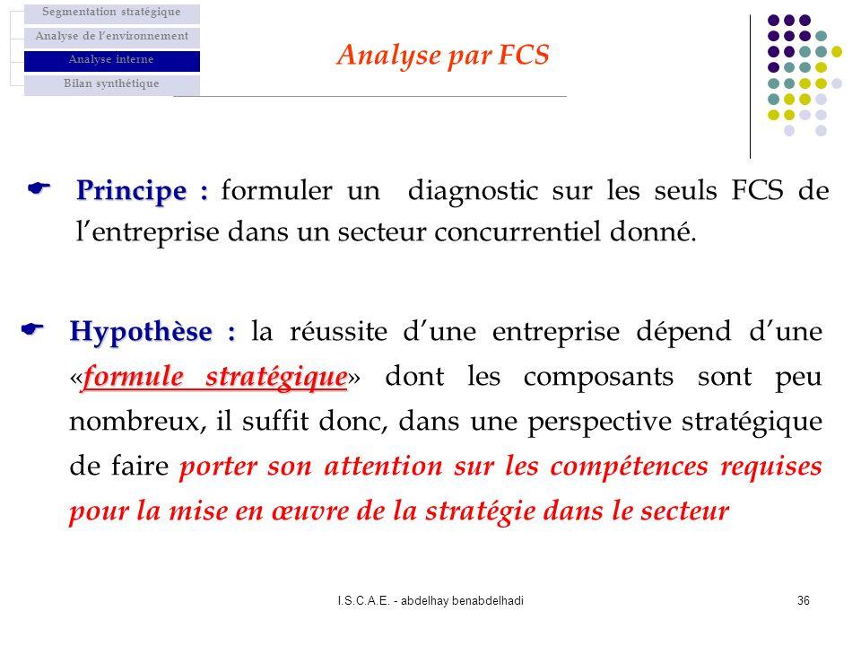 Segmentation stratégique Analyse de l'environnement