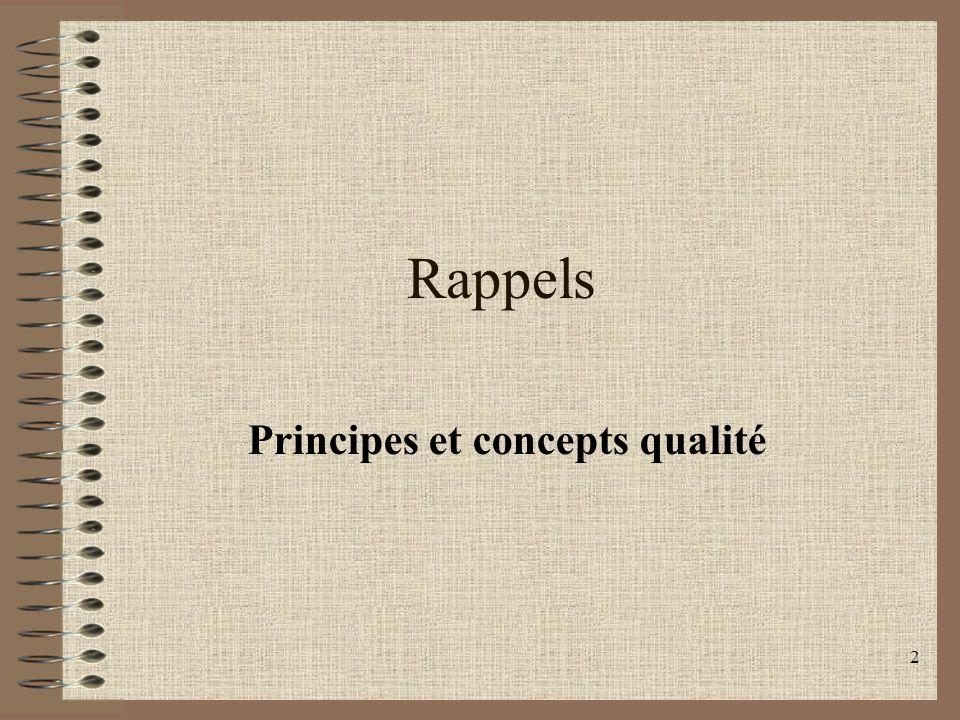 Principes et concepts qualité