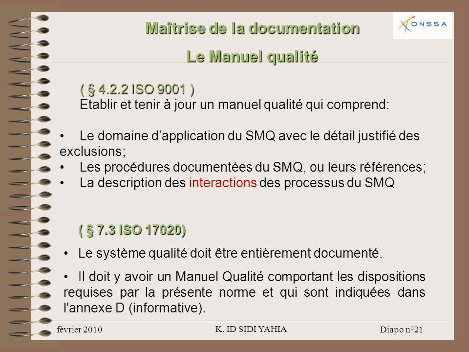 Maîtrise de la documentation