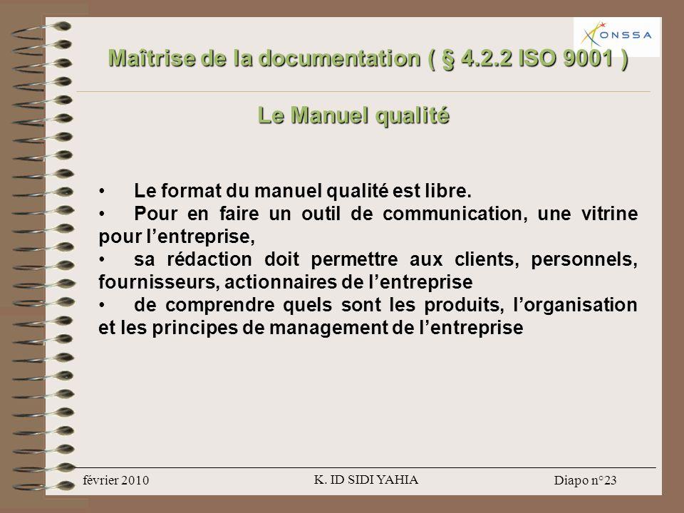 Maîtrise de la documentation ( § 4.2.2 ISO 9001 )